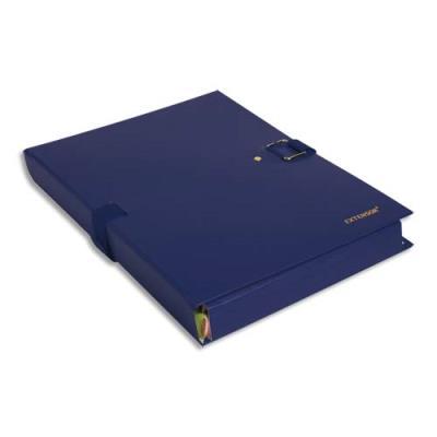Chemise extensible Extensor® de Claircell - dos 10 cm - coloris bleu finition imitation cuir