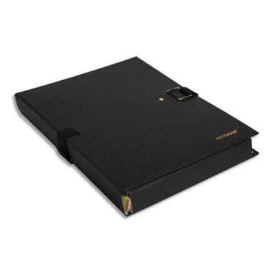 Chemise extensible Extensor® de Claircell - dos 10 cm - coloris noir finition imitation cuir