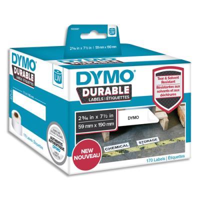 Etiquettes Dymo Labelwriter - durable - noir/blanc - 59 x 190 mm - rouleau de 170