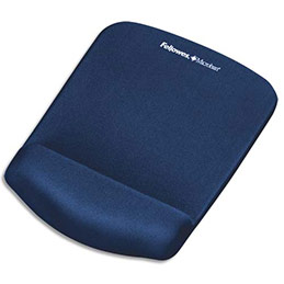 Tapis de souris repose-poignets Fellowes - PlushTouch - bleu marine (photo)