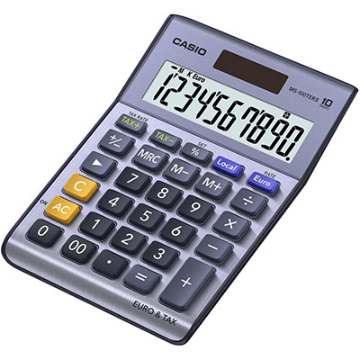 Calculatrice de bureau Casio MS-100TERII - 10 chiffres (photo)