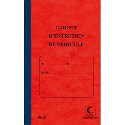 Piq�re 32 pages carnet entretien du v�hicule Lebon & Vernay - foliot� de 1 � 15 - format 21x13 cm