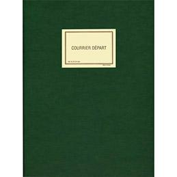 Registre pour enregistrement du courrier départ Lebon & Vernay - 150 pages - 25x32cm - coloris vert