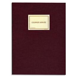 Registre pour enregistrement du courrier arrivée Lebon & Vernay - 150 pages - 32x25 cm - coloris bordeaux