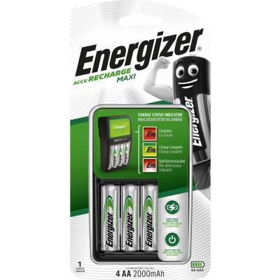 Chargeur de piles Energizer Maxi pour format AA et AAA + 4 accus AA rechargeables 2000 mAh (photo)