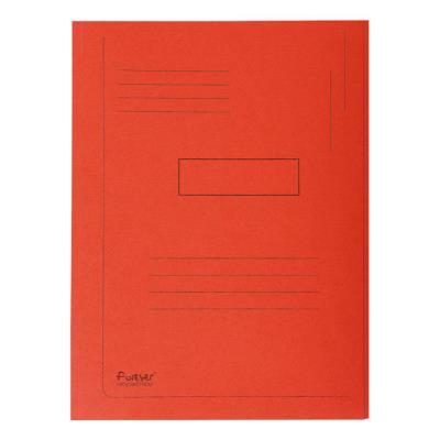 Chemise Exacompta Forever A4 à 2 rabats avec lignes imprimées - 200 feuilles - 240 x 320 mm - carton comprimé recyclé - rouge - paquet 50 unités