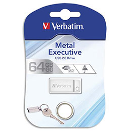 Clé USB 2.0 Verbatim Metal Executive Drive Silver - 64 Go (photo)