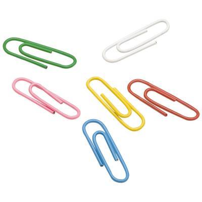 Boîte de 100 trombones  25 mm - coloris assortis - paquet 100 unités