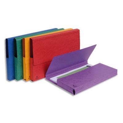 Chemises à poche Exacompta - en carte lustrée 265g - coloris assortis vifs - paquet de 5