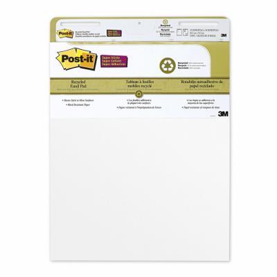 Bloc pour chevalet de conférence Post-It Super Sticky - 559RP - 63 x 73 -2 cm - 30 feuilles - blanc - paquet 2 blocs (photo)