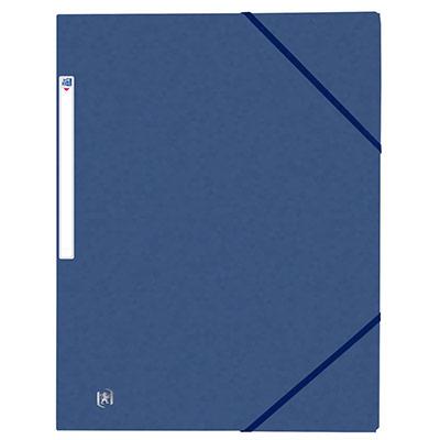 Chemises 3 rabats à élastiques Oxford Top File + A4 - bleu