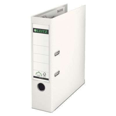 Classeur à levier 180 degrés LEITZ - en carton rembordé de polypropylène - dos de 7,5cm - coloris blanc