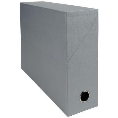 Boîte de transfert Exacompta - en carton rigide recouvert de papier toilé - dos 9 cm - gris