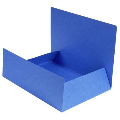 Chemise Exacompta Nature Future A4 à 3 rabats sans élastique de retenue - 200 feuilles - 240 x 320 mm - carton comprimé - bleu