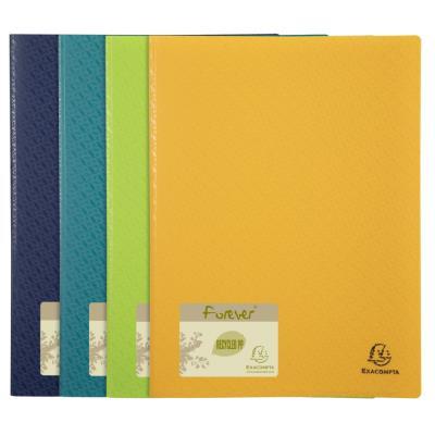 Protége-documents Exacompta Forever en polypropylène recyclé - 40 vues/20 pochettes A4 - coloris assortis