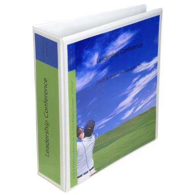 Classeur 2 anneaux à levier personnalisable Kreacover Exacompta - polypropylène - A4 maxi - dos 8 cm - blanc (photo)