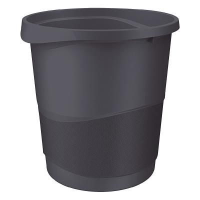 Corbeille à papier Esselte Europost opaque - 14L - noir