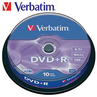 DVD+R x 10 DataLifePlus Verbatim - 4.7 Go - support de stockage - lot de 10 (photo)
