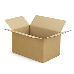 Caisse carton brune - simple cannelure - 30 x 20 x 17 cm - lot de 25 (photo)