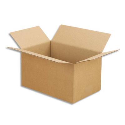 Caisse carton brune - simple cannelure - 30 x 20 x 17 cm - lot de 25