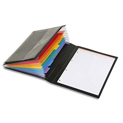 Conférencier à élastiques Rainbow Class Viquel - polypropylène 7/10e - noir (photo)