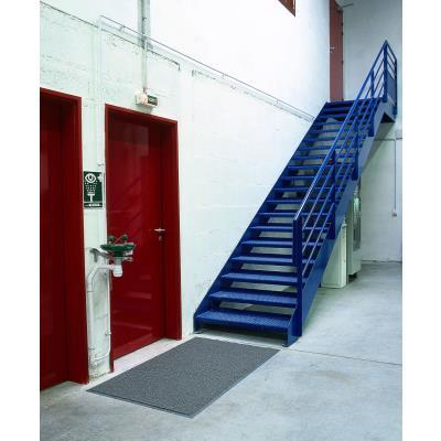 Tapis d'accueil extérieur Floortex - 90 x 150 cm - trafic intense - gris (photo)