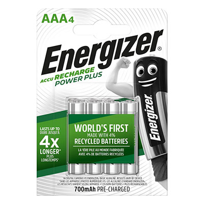 Pile Energizer AAA HR03 Power plus - recheargeable - 700 mAh - blister de 4 piles