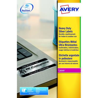 Étiquettes ultra-résistantes Avery pour imprimantes laser - 199,6 x 143,5 mm - 20 feuilles - 2 Étiquettes par feuille - blanc - paquet 40 unités