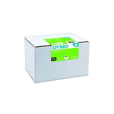 Étiquettes d'adresse large S0722390 pour labelWriter 89 x 36 mm - noir sur fond blanc - boîte de 24 rouleaux de 260 Étiquettes - paquet 24 rouleaux (photo)
