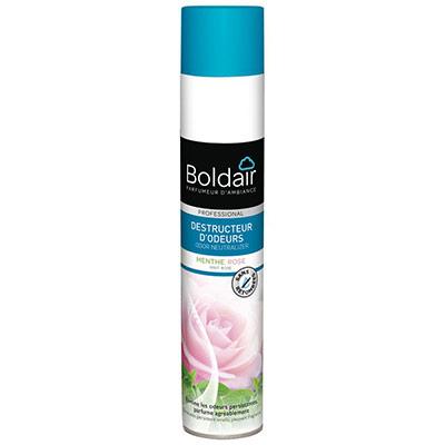 Aérosol destructeur d'odeurs Boldair - 500 ml - parfum menthe rose professional (photo)