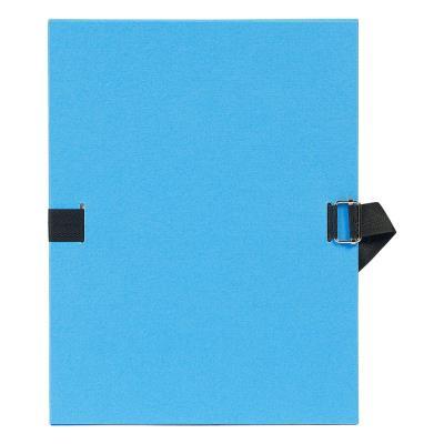 Chemise à dos extensible avec sangle - format 24 x 32 - qualité toilée - Coloris Bleu clair