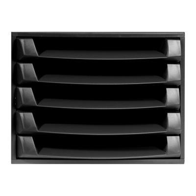 Module de classement Exacompta Eco Black - 5 tiroirs pour format A4+ - noir