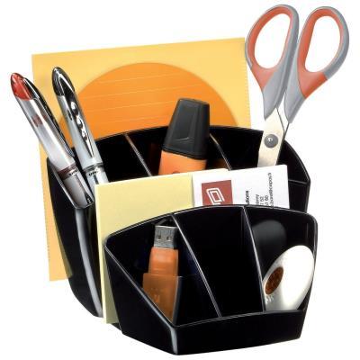 Pot à crayons 8 compartiments Cep Confort - noir