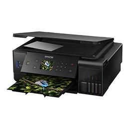 Epson EcoTank ET-7700 - Imprimante multifonctions - couleur - jet d'encre - A4/Legal (support) - jusqu'à 32 ppm (impression) - 100 feuilles - USB, LAN, hôte USB, Wi-Fi (photo)