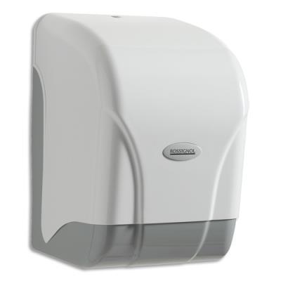 Distributeur d'essuie-mains à devidage central Oléane - transparent blanc