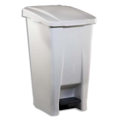 poubelle mobile standard p dale plastique blanc 60. Black Bedroom Furniture Sets. Home Design Ideas