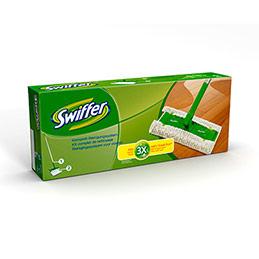 Kit de nettoyage Swiffer Dry - 1 balai + 2 lingettes dépoussièrantes (photo)