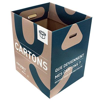 Boîte de collecte Ecobox pour le tri et recyclage des emballages cartons (photo)