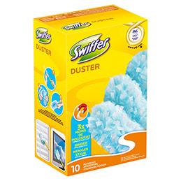 Boite de 10 recharges Swiffer Duster pour poignée plumeau (photo)