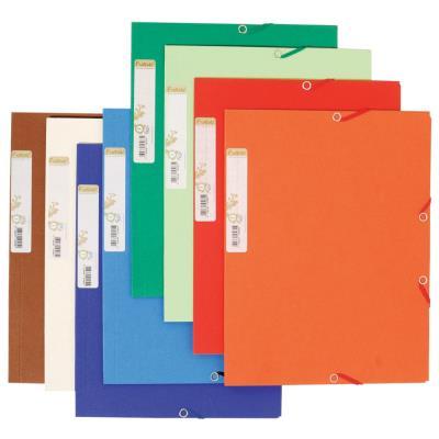 Chemise 3 rabats élastique Exacompta Forever - carte recyclée bicolore - 380g - coloris assortis
