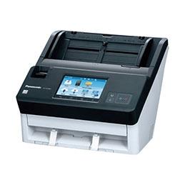 Panasonic KV-N1058X - Scanner de documents - Recto-verso - A4/Legal - 600 dpi - jusqu'à 65 ppm (mono) / jusqu'à 65 ppm (couleur) - Chargeur automatique de documents (100 feuilles) - jusqu'à 8000 pages par jour - Gigabit LAN, Wi-Fi(n), USB 3.1 Gen 1 (photo)