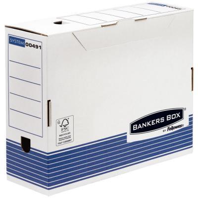 Boîte à archives en carton recyclé Fellowes System - dos 10 cm - montage automatique