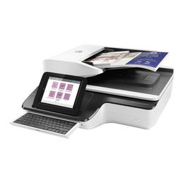 HP ScanJet Enterprise Flow N9120 fn2 Flatbed Scanner - Scanner de documents - flatbed: CCD / ADF: CIS - Recto-verso - 297 x 864 mm - 600 dpi x 600 dpi - jusqu'à 120 ppm (mono) / jusqu'à 120 ppm (couleur) - Chargeur automatique de documents (200 feuilles) - jusqu'à 20000 pages par jour - USB 2.0, Gigabit LAN, USB 2.0 (Host) (photo)