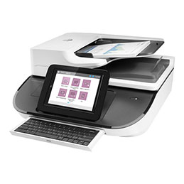 HP Digital Sender Flow 8500fn2 - Scanner de documents - Recto-verso - 216 x 864 mm - 600 dpi x 600 dpi - jusqu'à 92 ppm (mono) / jusqu'à 92 ppm (couleur) - Chargeur automatique de documents (150 feuilles) - jusqu'à 10000 pages par jour - USB 2.0, Gigabit LAN, USB 2.0 (Host) (photo)