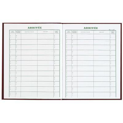 Cahier pour enregistrement du courrier arrivée - 24x32 cm - 160 pages (photo)