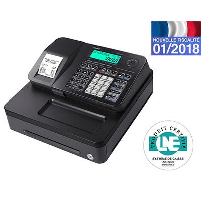 Caisse enregistreuse Casio SES100 petit tiroir noir - compatible fiscalité 2018 (photo)