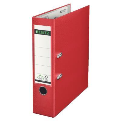Classeur à levier 180 degrés - en carton rembordé de polypropylène - dos 75mm - rouge