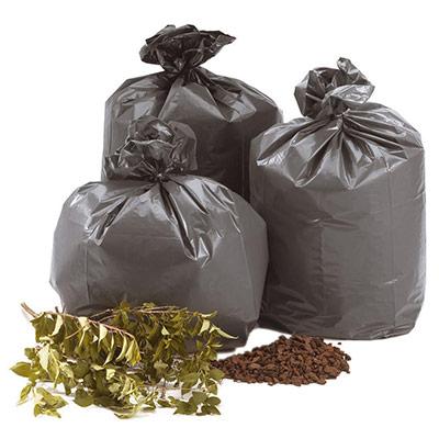 Sacs poubelle plastique 100 L gris - carton de 200 sacs