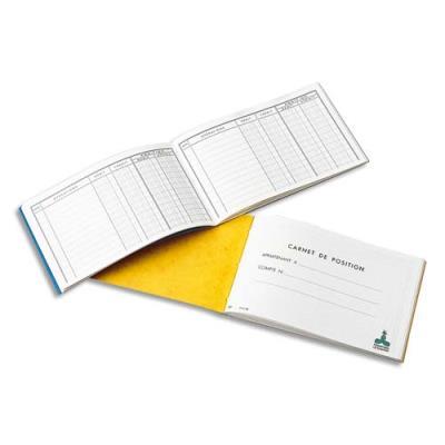 Carnet position de banque Le Dauphin - 10.7x17.3 cm - 24 pages (photo)