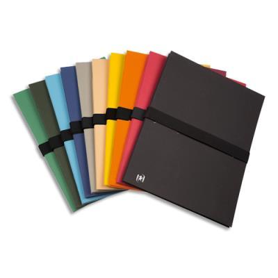 Chemises extensibles Elba Color Life - papier toilé - fermeture par sangle velcro - 10 coloris assortis